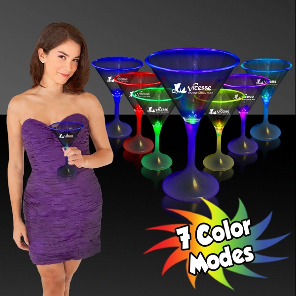 7 oz. Lighted LED Martini Glass