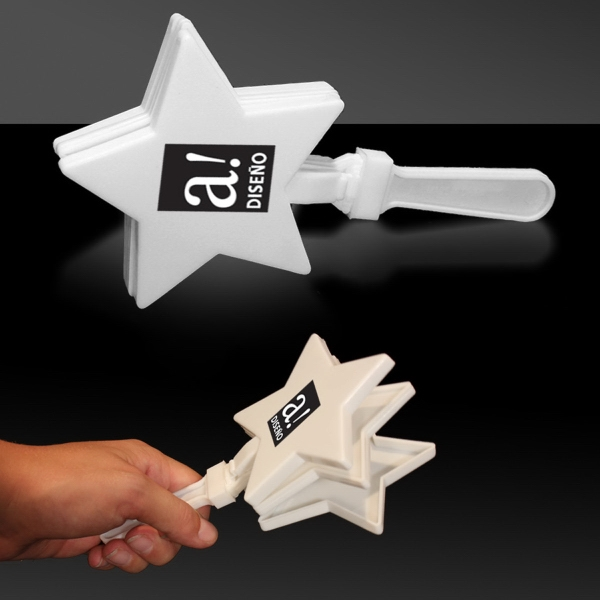 "White 7"" Star Hand Clapper"