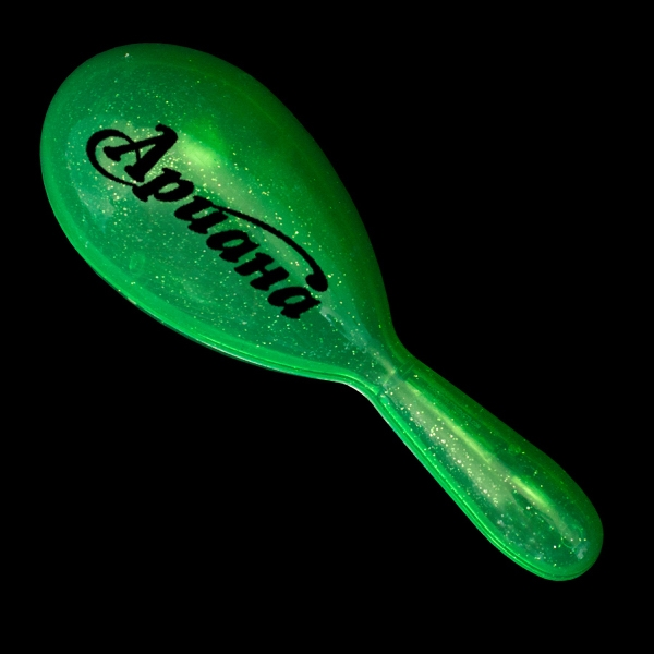 """Green 7"""" Plastic Glitter Maraca"""