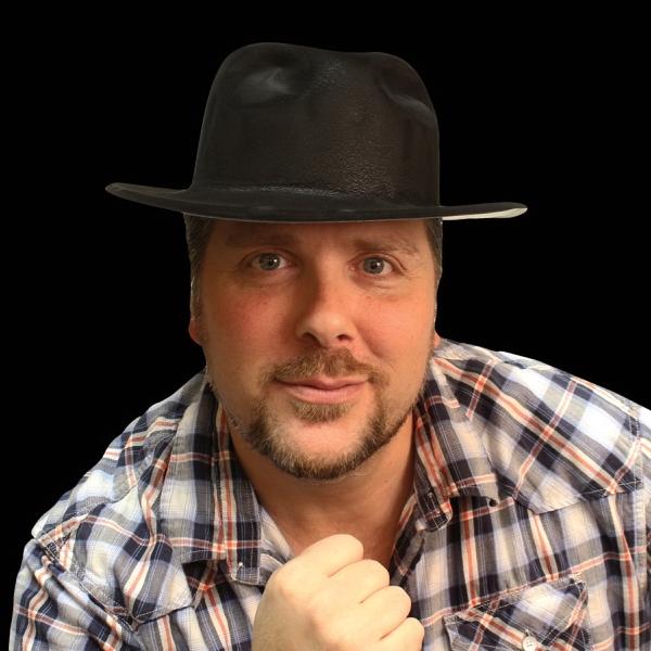Black Velour Fedora Gangster Hat