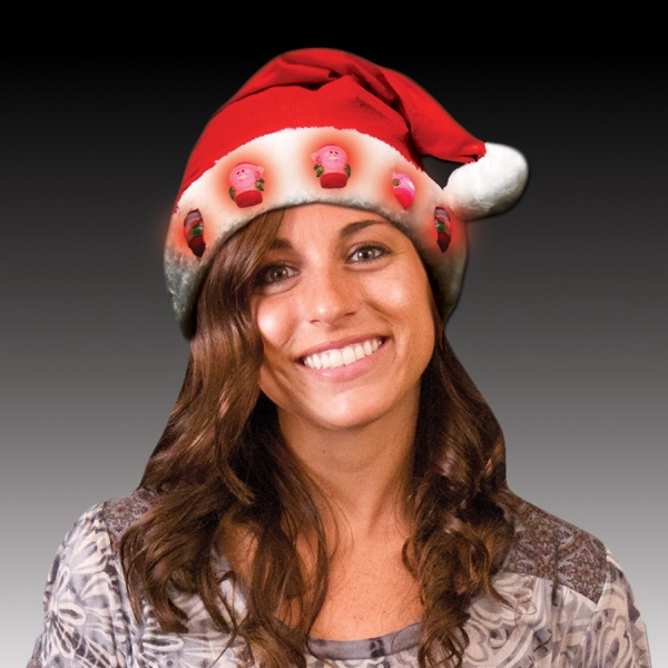 Light up LED Santa Hats