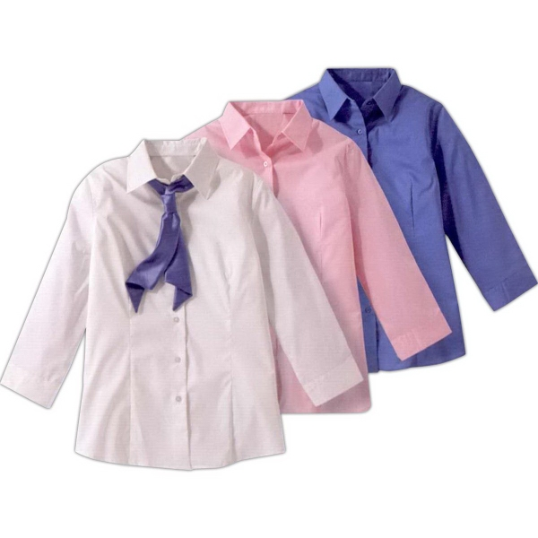 Ladies Tailored Stretch Broadcloth Maternity Blouse