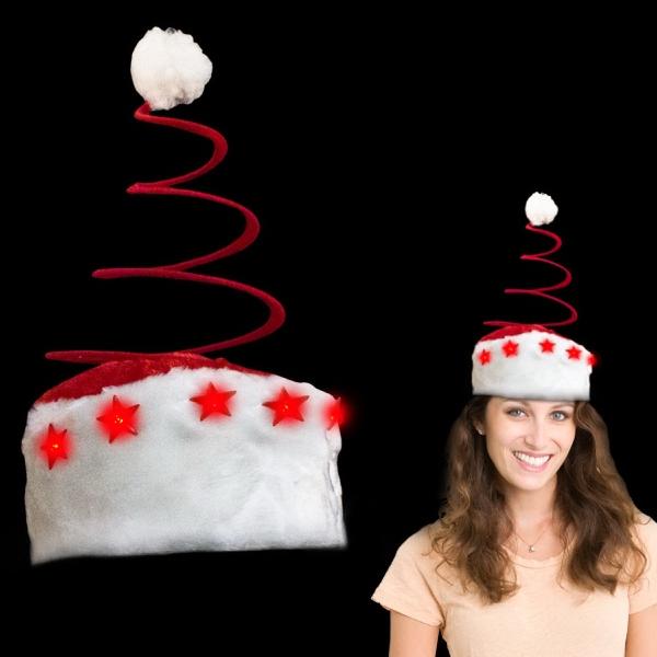 LED Light Up Spring tree Santa Novelty Hat