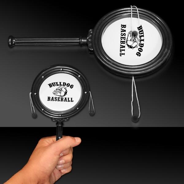 "Black 7"" Plastic Noise Drum - Black 7"" Plastic noise drum."
