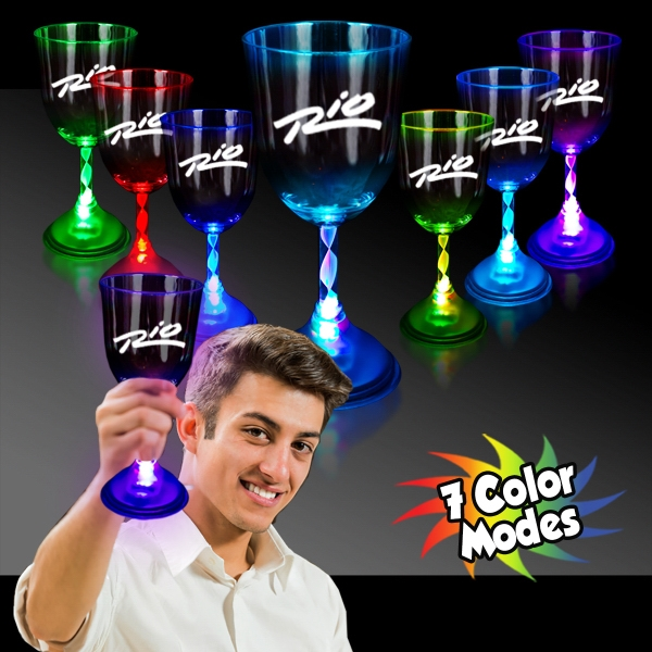 10 oz. Light Up MultiColor Glow LED Wine Glass