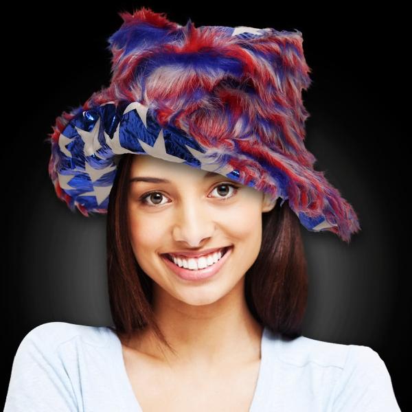 Patriotic Bucket Novelty Hat