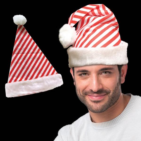 Candy Cane Stripe Santa Hat