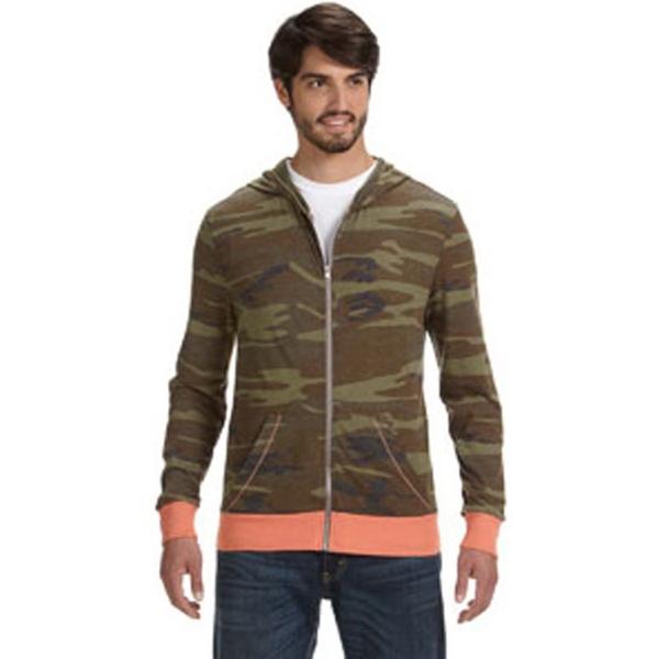 Alternative Men's Eco Long-Sleeve Printed Zip Hoodie