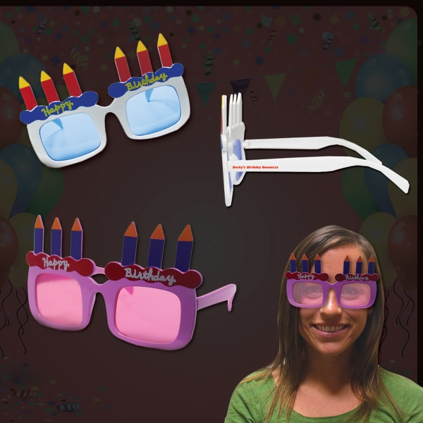 Happy Birthday Sunglasses in Assorted Colors