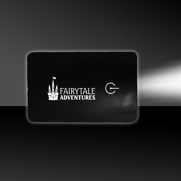 Black Card LED Light Up Glow Flashlight