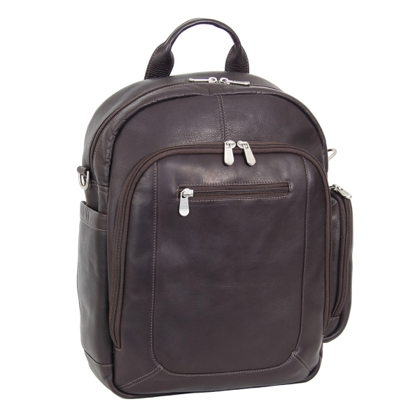 Genuine Leather Laptop Backpack/Shoulder Bag