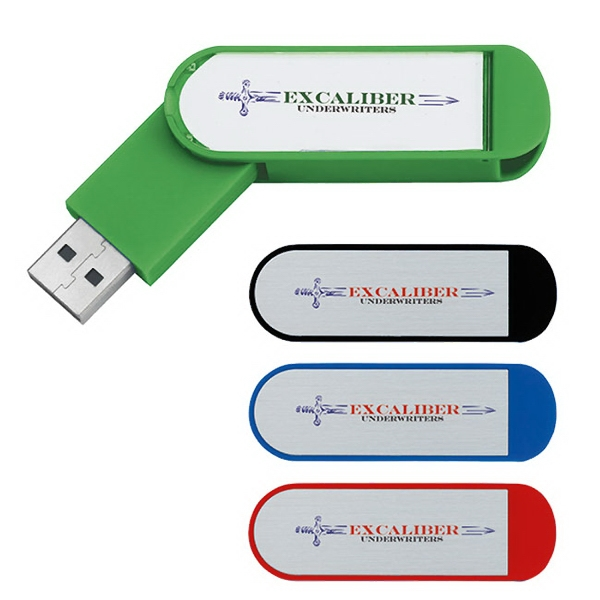 Labeled Folding USB 2.0 Flash Drive