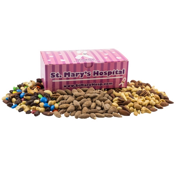Large Chest Box with Trail Mix, Almond, Mixed Nuts