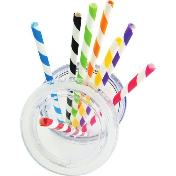 Sedici Striped Straws