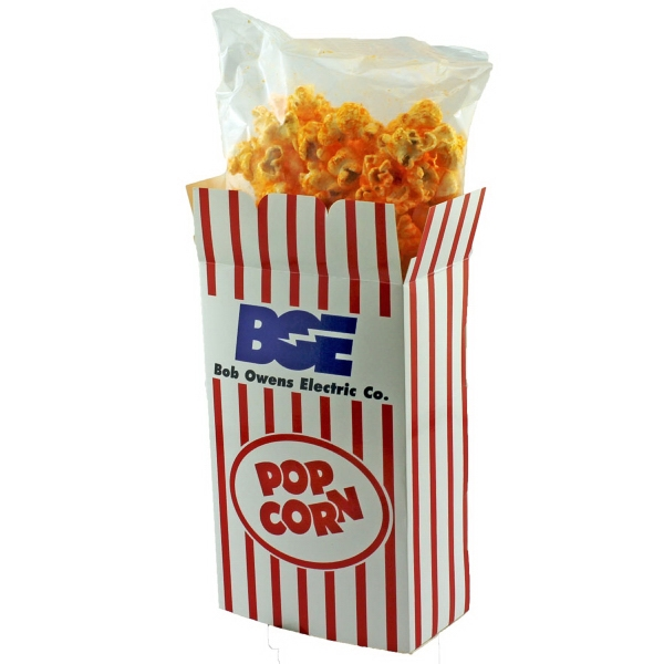 Rectangle Box with Cheese Popcorn