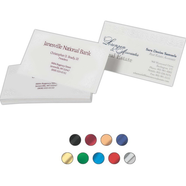 Business Cards - Customer Supplied Stocks