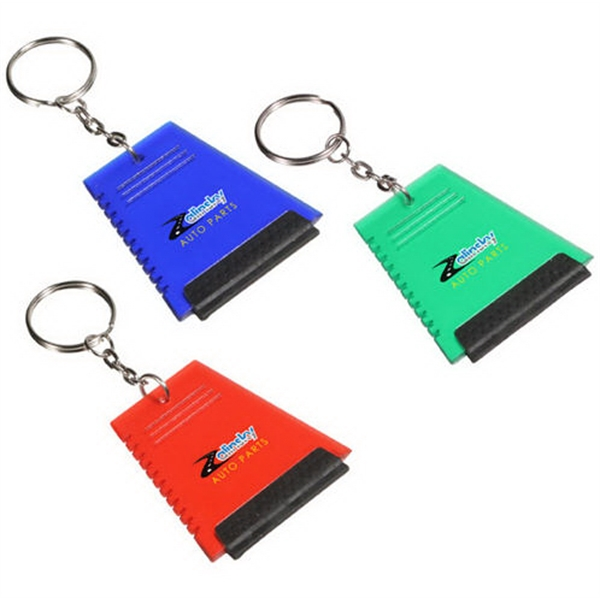 Ice Scraper with Squeegee Key holder