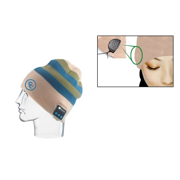 Beanie with Built-in Bluetooth Wireless Headphones