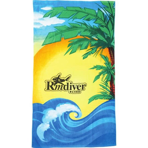 14 lb./doz. Beach Scene Beach Towel