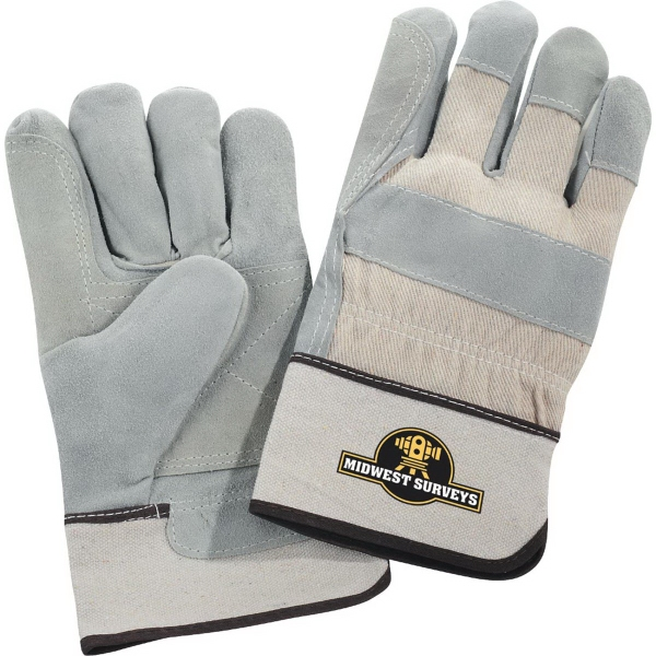 Safety Works Double Palm Gloves White Cuff