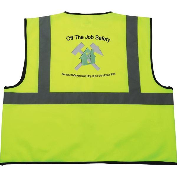 Safety Works Hi-Viz Lime Green Class 2 Safety Vest