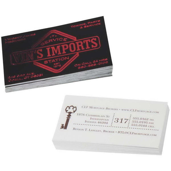 Business cards - Business Value Stocks