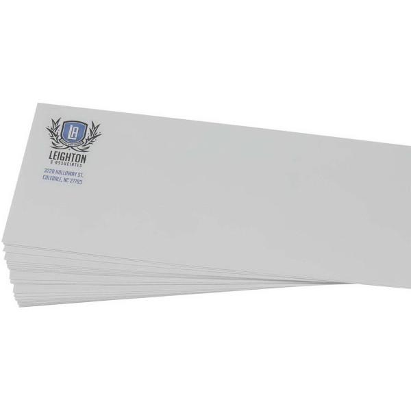 "Spot Color Stationery Envelope - Cotton Bond 24 lb. Stock - Stationery #10 24 lb. envelopes, 4 1/8"" x 9 1/2""."