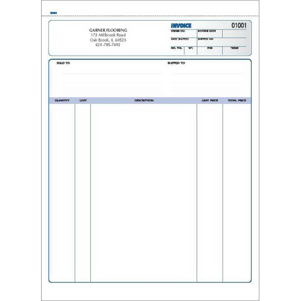 """Snap set invoice forms - Snap set 3-part invoice forms ( unruled), 8 1/2"""" x 11""""."""