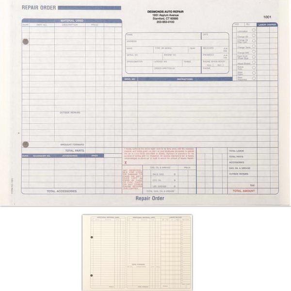 Snap Set Repair Forms