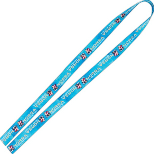 "1/2"" Fine Print Lanyard - Good Value (R)"