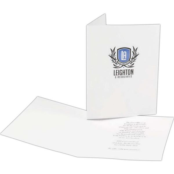 Announcements - standard vellum cards - 5 1/2 standard 80 lb baronial vellum announcements non-panel cards.