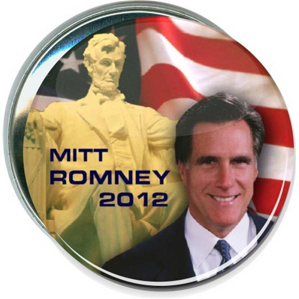 Mitt Romney 2012 Lincoln Monument, Political Button