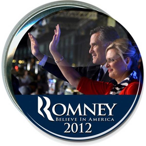 Mitt and Ann Romney, Believe in America, Political Button