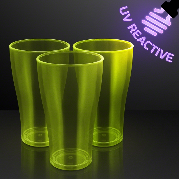 Yellow Neon Glow Cup, Blacklight Reactive