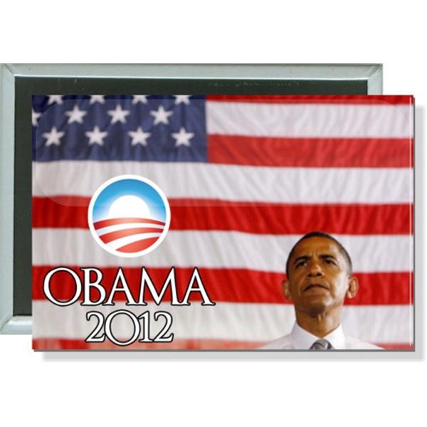 Obama Logo 2012, American Flag Button