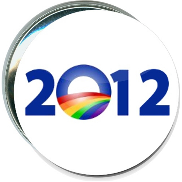 Obama Rainbow Logo 2012, Political Button