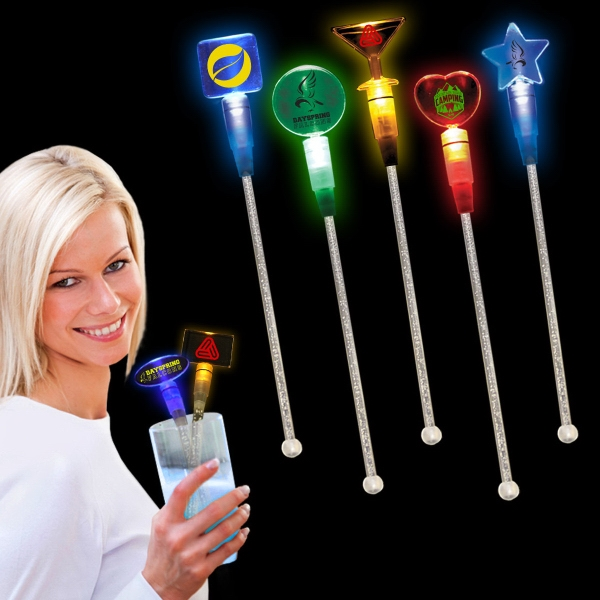 "9"" Light Up LED Glow Cocktail Stirrer"