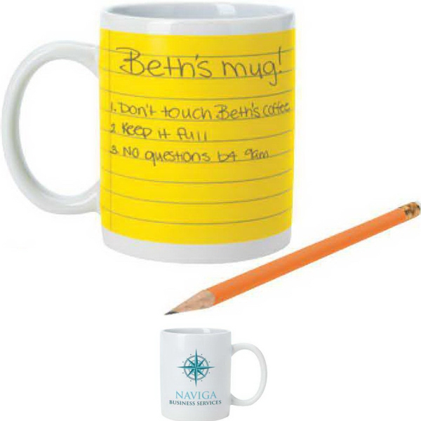 NotePad Mug -11 oz