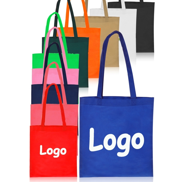 Promotional tote bag made of 80gsm non w