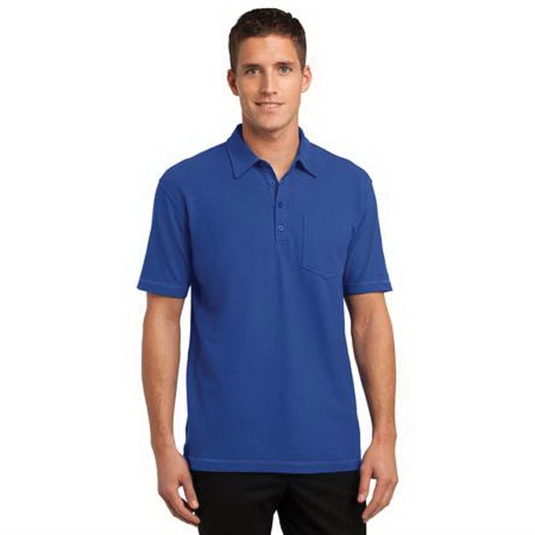 Port Authority Modern Stain-Resistant Pocket Polo. - Port Authority Modern Stain-Resistant Pocket Polo.