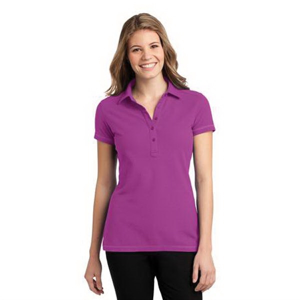 Port Authority Ladies Modern Stain-Resistant Polo. - Port Authority Ladies Modern Stain-Resistant Polo.
