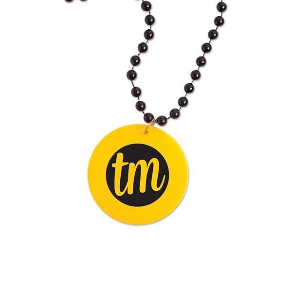 Neon Medallion Beads