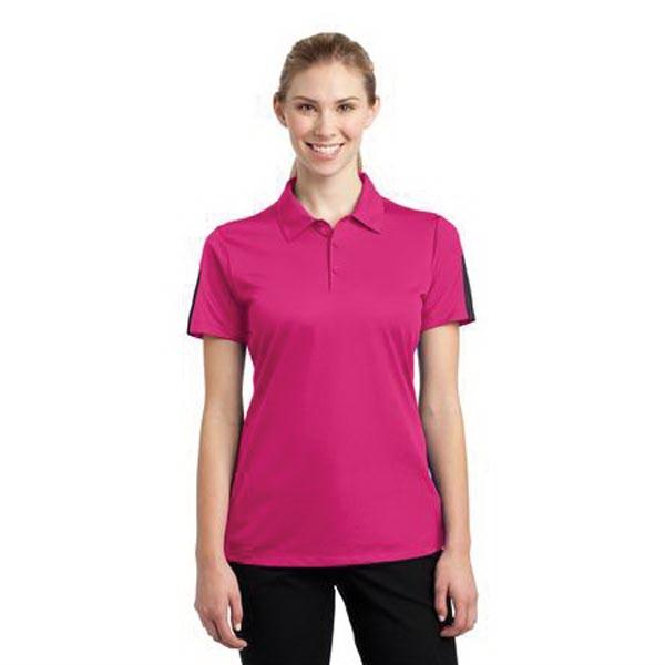 Sport-Tek Ladies PosiCharge Active Textured Colorblock Po... - Sport-Tek Ladies PosiCharge Active Textured Colorblock Po...