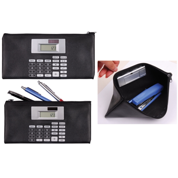 Document and Deposit Bag with Solar Calculator
