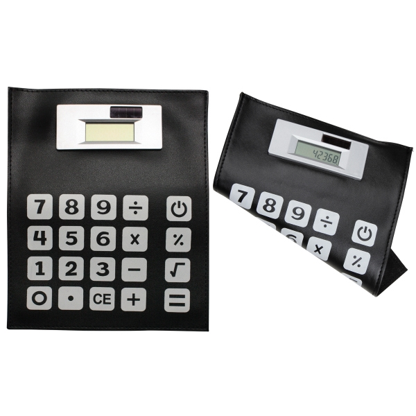 Mouse pad and solar calculator