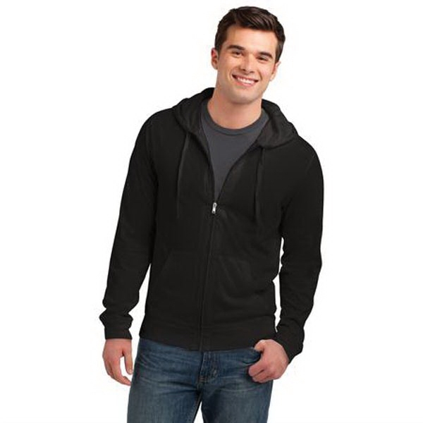 District Young Mens Jersey Full-Zip Hoodie.