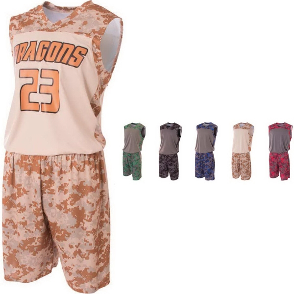 Youth Printed Camo Performance Muscle Top