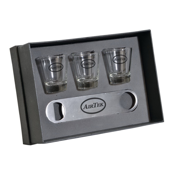 The Nordic Speed Opener & Shot Glass Gift Set