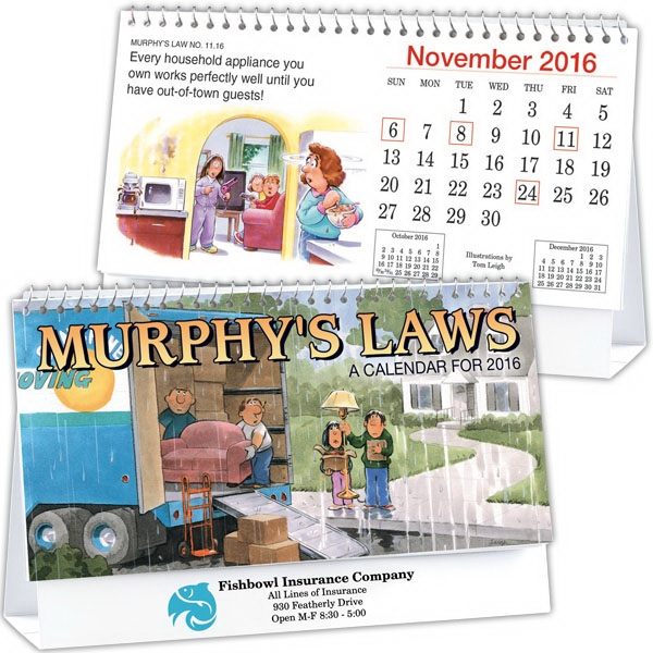 Kingswood Collection Murphy's Laws Desk Calendar