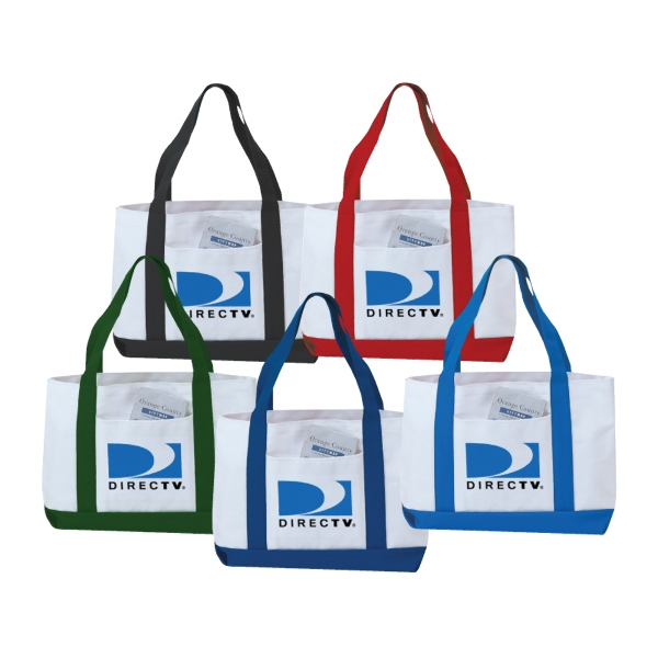600 Denier Polyester 2 Tone Tote Bag